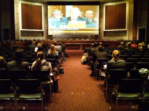 overflow from for Senate EPW oil spill hearing 70 people watch