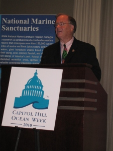 Congressman Sam Farr speaks at CHOW in Washington, DC